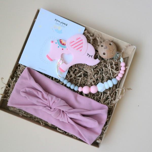 rozinis drambliukas kramtukas palankynu dovana