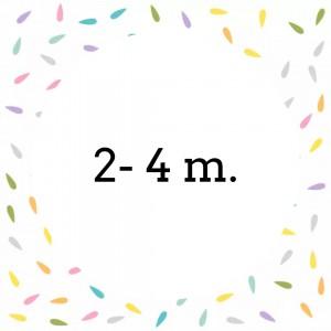 2- 4 m.